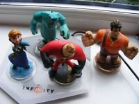 Disney Infinity Accessories Figures and Base Anna Sully Wreck it Ralph Mr-Incredible