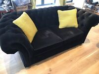 Black velvet chesterfield sofa - Sweetpea and willow
