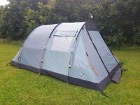 Vango Icarus 500 tent + carpets + beds + windbreaker