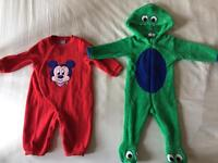 green monster all in one bodysuit 6-9 months and red disney mikimouse baby bodysuit size 80cm (6-9m)