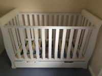 Obaby Mini Sleigh cotbed & changing table