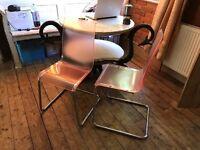 Retro Acrylic pink chairs