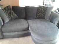 Sofa, Swivel Chair and Footstool