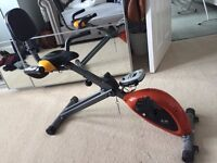 Body Sculpture EZ Magnetic Folding Exercise Bike with Back Rest - Orange/Grey/Black
