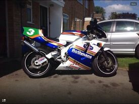 NSR MC21 Honda 250 rebuilt in classic Rothmans Colours , not aprilia, suzuki or Yamaha