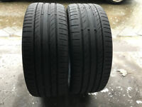 2x Continental Sport Contact 5 Tyres 225 45 17 4mm+ Good Condition!!
