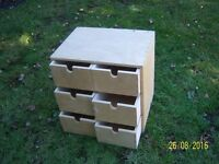 Ikea (?) Moppe Mini Wooden Chest Of 6 Drawers