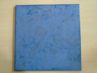 "Blue mottled grey floor tiles | 60no. covers 6m² | 12½"" x 12½"" or 31.6cm x 31.6cm 