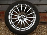 JAGUAR XF Four in number alloy wheels size 245/45R18 with winter Tyres .