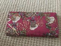 Patterned pink wallet