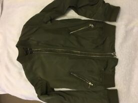 River Island Green Bomber jacket