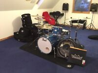 Pearl Export ELX Blue Mist Drumkit BUNDLE (Hardware/Cymbals/Cases... AND MORE)