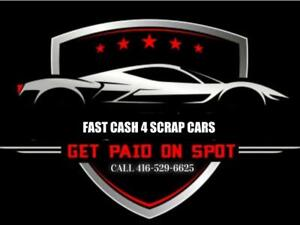 We Pay Top Cash For Scrap/Used Cars, FREE TOW, and extra $50 for Drop off!  call or text 4165296625 for a quick quote
