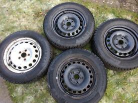 Skoda Octavia / VW / SEAT winter tyres and steel wheels
