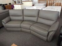 Ex-Display ScS Teo Grey Leather 4 Seater Electric Recliner Sofa Can Deliver View Hucknall Nottm