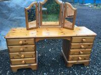 WOW stunning Ducal pine nine drawer dressing table