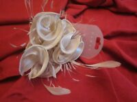 Brand new Debenhams Feather & Flower Fascinator