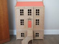Dolls House : 3 storey style Town House with Loft, Furnitue and Characters