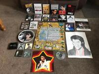 ELVIS PRESLEY COLLECTION OF VARIOUS DVDS AND MEMORABILIA