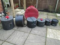 Drums - Various Drum cases - Leblond, Protection Racket, Premier etc. £10-£25