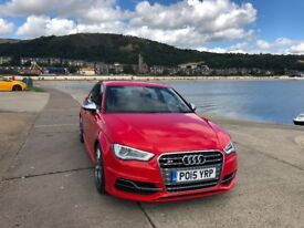 Audi S3 in Red with Black leather, Immaculate low mileage car