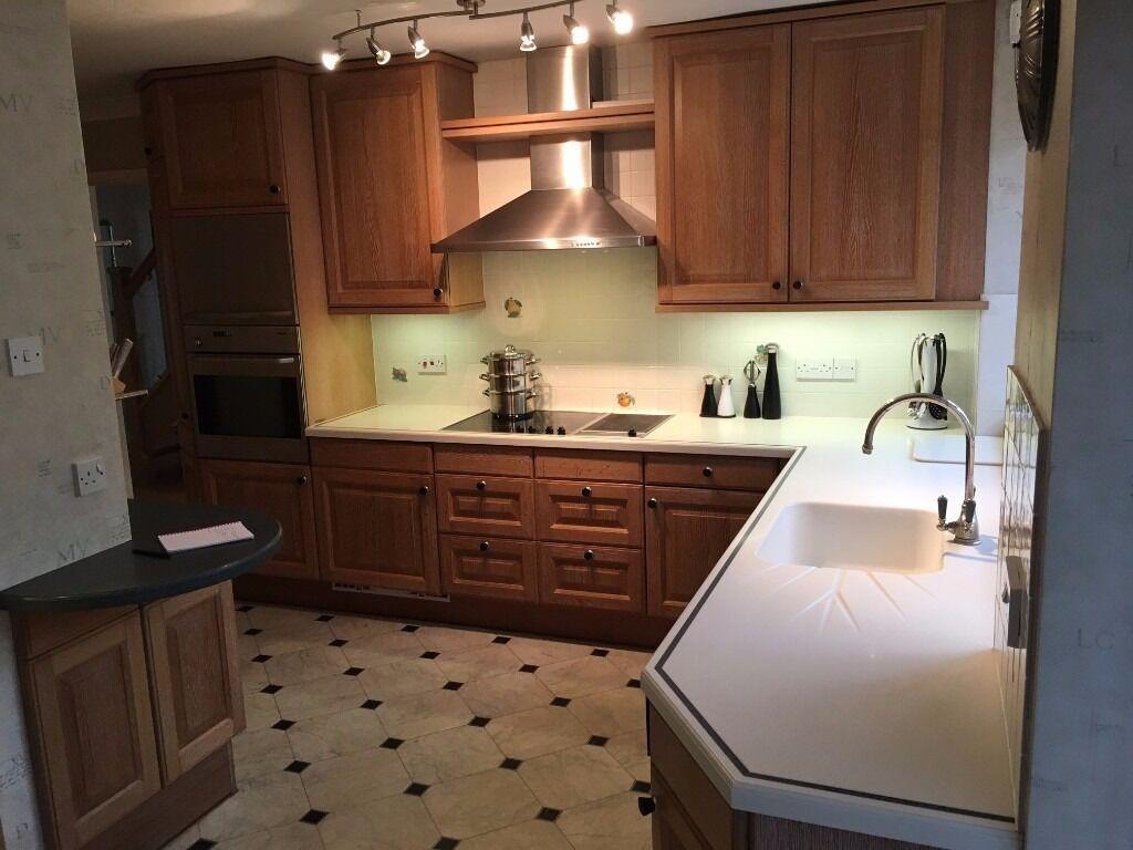 Zeyko German Fitted Complete Kitchen Units + Corian Worktops with ... | {Zeyko 35}