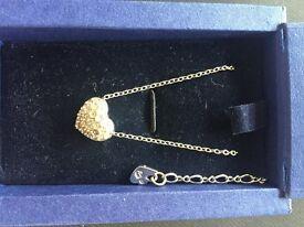 Swarovski heart necklace in box