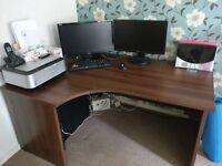 Walnut Corner Desk for Home Office