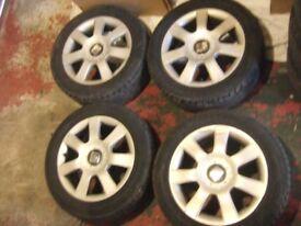 "16"" Genuine Volkswagen Seat Altea Alloy Wheels, 5x112, Leon, Caddy, Golf, Audi, *POSTAGE AVAILABLE*"