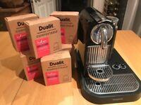 Nespresso Magimix coffee machine & 80 Dualit compostable coffee capsules