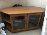 Corner TV cabinet - Teak