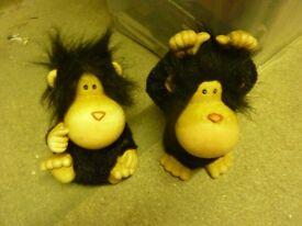 pair of cute monkey money boxes