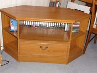 Teak effect TV unit