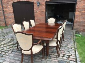 Cherrywood Dining Table And 8 Chairs For Sale