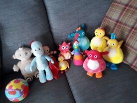 Collectiin twirly woos walking toys and soft toys