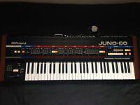 VGC Roland Juno 60 w/ case / manual / kenton MIDI to DCB