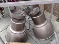industrial style hanging lamps... bargain!