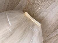 Ivory Mid length wedding veil