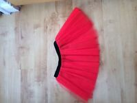 Red tulle skirt size 8-10 elasicated waist band
