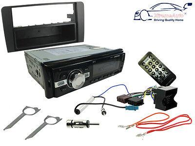 AUDI A4 08-16: Car Stereo Head Unit Kit. FM Radio Bluetooth, USB MP3, Fascia ISO