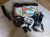 Wii console, games, Wii fit, ea active