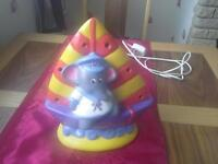 childrens elephant and boat lamp