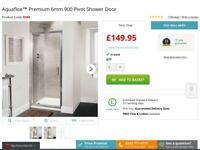 Brand new 900cm shower door