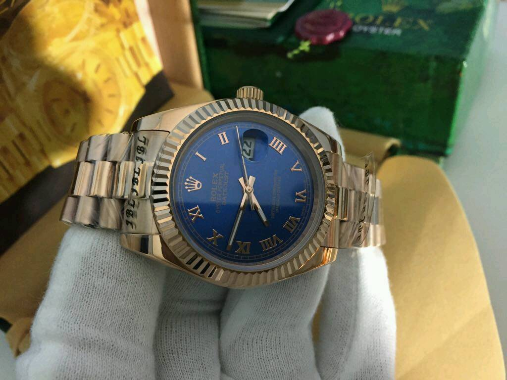 Rolex Datejust Rose gold Blue Dial