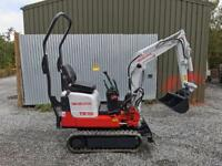 Micro digger and driver hire