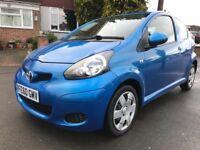 60 Plate (2010) Toyota Aygo 1.0 VVTi Blue Low Mileage @47k