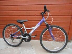 Falcon Tahiti girls bike, suit age 8 to 11 years, 24 inch wheels, 18 gears, 12 inch frame