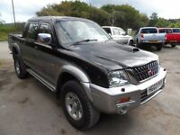 2003 MITSUBISHI L200 ANIMAL SILVER BLACK , CLEAN TRUCK WITH ROLLER SHUTTER