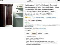 Pivot bathroom Shower door