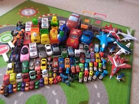 100 Small Cars and airplanes